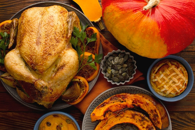 Vue Rapprochée Du Beau Concept De Thanksgiving Photo gratuit