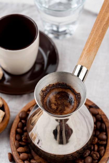 Vue Rapprochée Du Concept De Café Photo gratuit