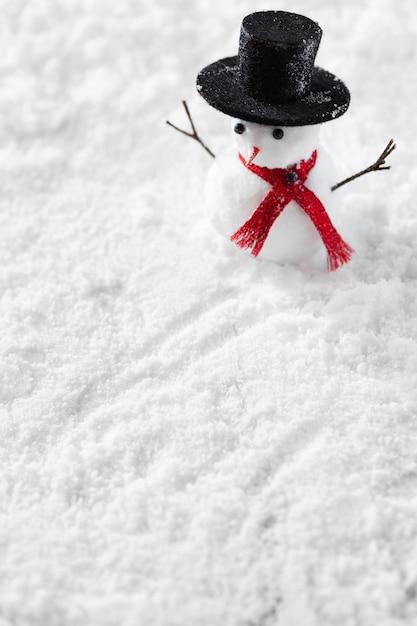 Vue Rapprochée Du Concept D'hiver Bonhomme De Neige Photo gratuit