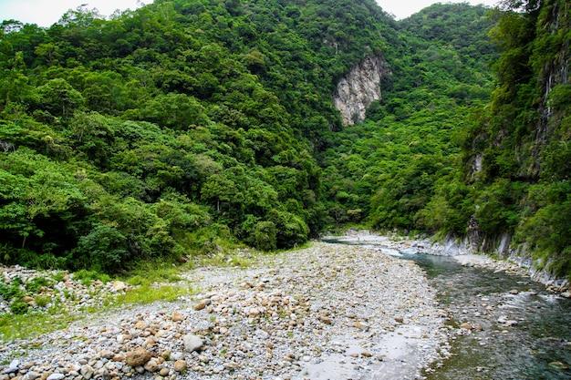 Vue Sur La Rivière Au Paysage Du Parc National De Taroko à Hualien, Taiwan. Photo Premium