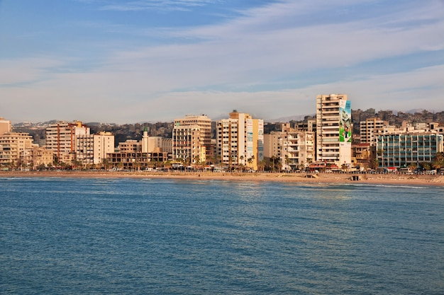 La vue sur sidon (sayda), liban Photo Premium