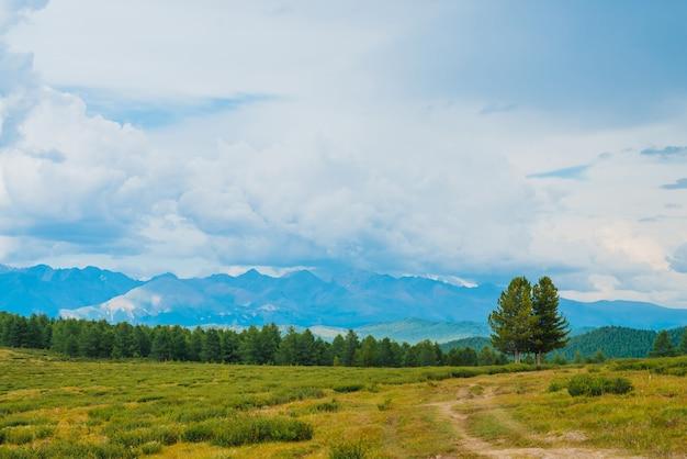 Vue spectaculaire sur les montagnes Photo Premium