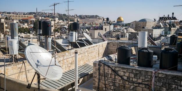 Vue De La Vieille Ville Avec Le Dôme Du Rocher En Arrière-plan, Jérusalem, Israël Photo Premium