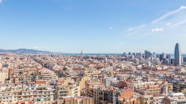 Vue de la ville de barcelone Photo Premium