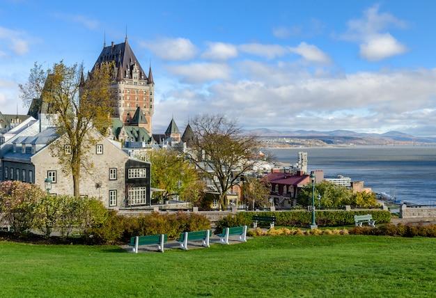 Vue De La Ville Haute De La Vieille Ville De Québec à Québec, Canada Photo Premium