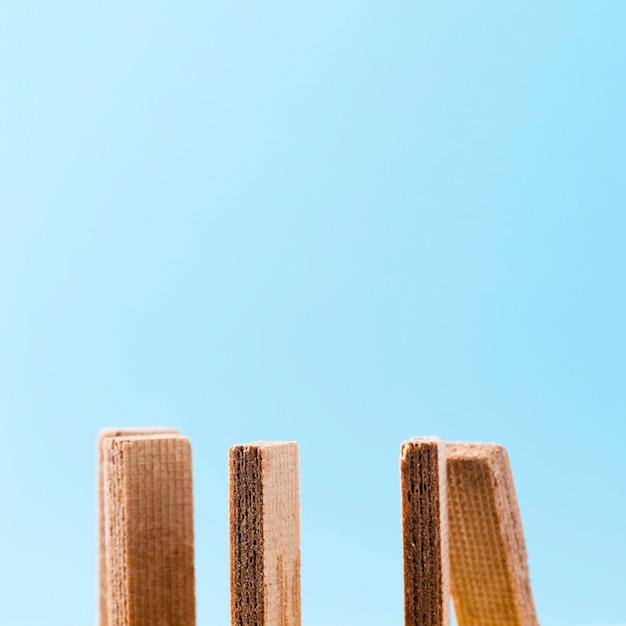 Wafer biscuits avec espace de copie bleu Photo gratuit