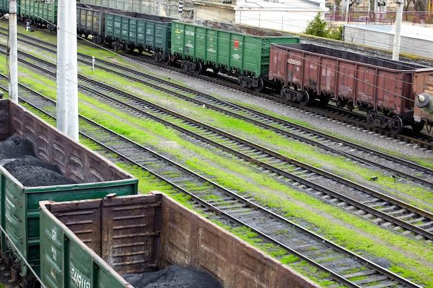 Wagons de marchandises poussiéreux Photo Premium