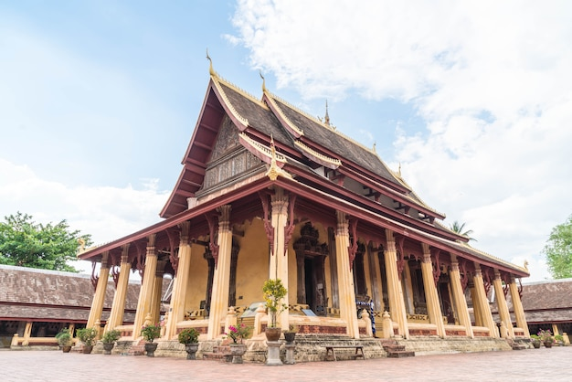 Wat si saket, vientiane, laos Photo Premium
