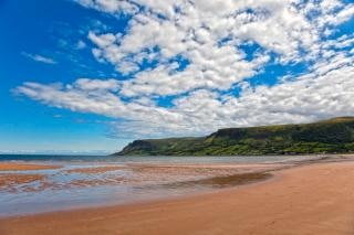 Waterfoot plage hdr royaume Photo gratuit