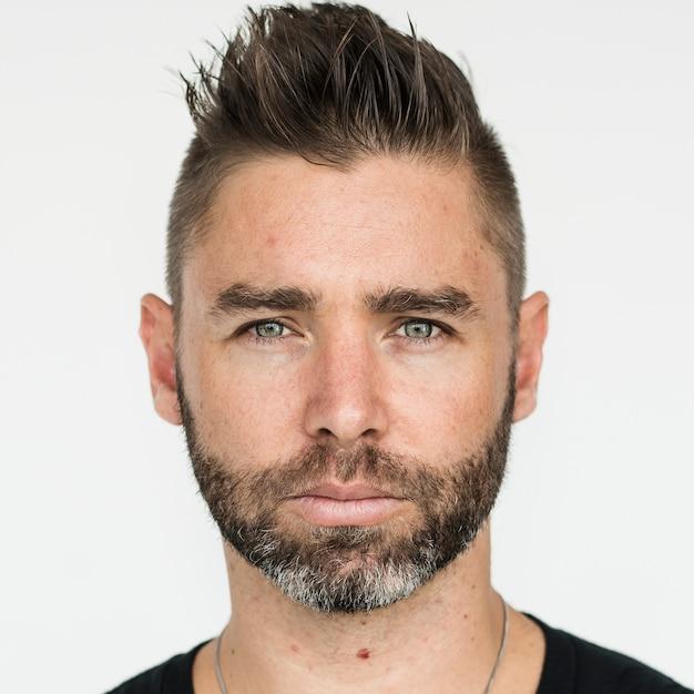 Worldface-british guy dans un fond blanc Photo gratuit