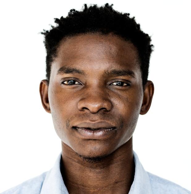 Worldface-ougandais dans un fond blanc Photo gratuit