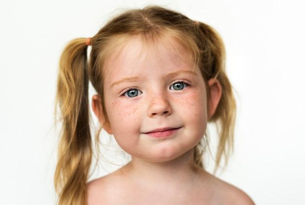 Worldface-russian girl dans un fond blanc Photo gratuit
