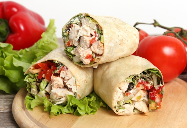 Wrap Au Poulet Photo gratuit