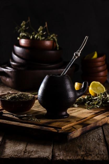 Yerba mate - tisane de boisson chaude d'amérique latine Photo Premium