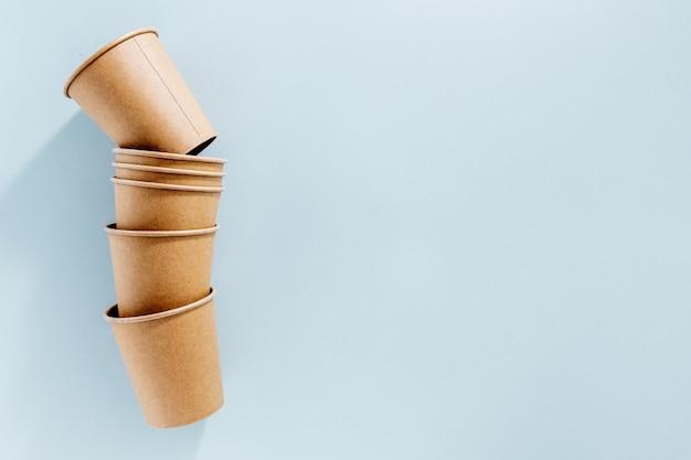 Zéro déchet avec gobelets en papier Photo Premium