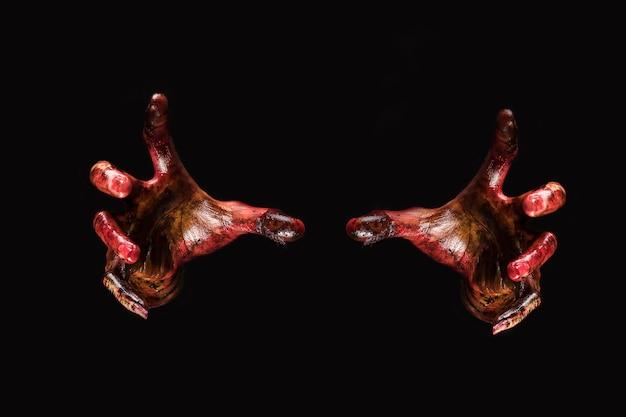 Zombie main. concept de thème halloween. Photo gratuit