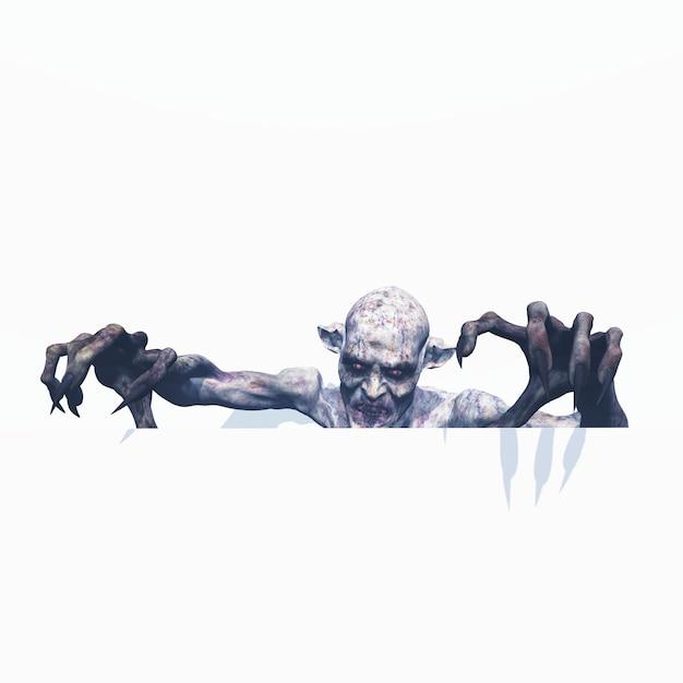 Zombie maléfique en 3d Photo gratuit