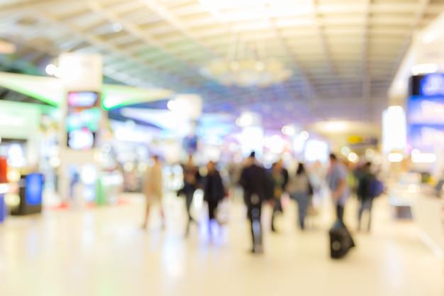 Zone D'embarquement De L'aéroport Arrière-plan Flou Photo Premium
