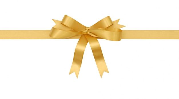 Archet cadeau en or Photo gratuit