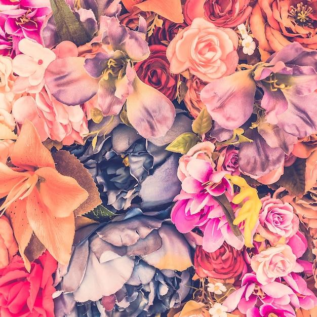Beau fond avec des fleurs différentes Photo gratuit
