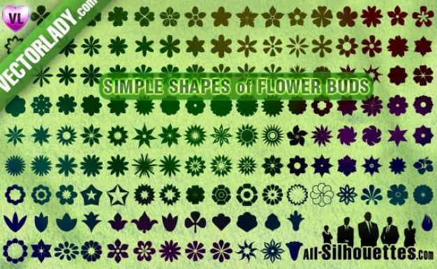 boutons de fleurs, des cliparts
