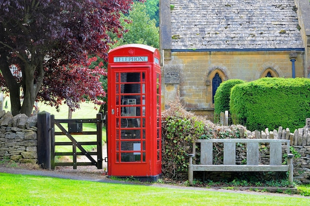 Cabine t l phonique n campagne anglaise des cotswolds for Photo campagne anglaise