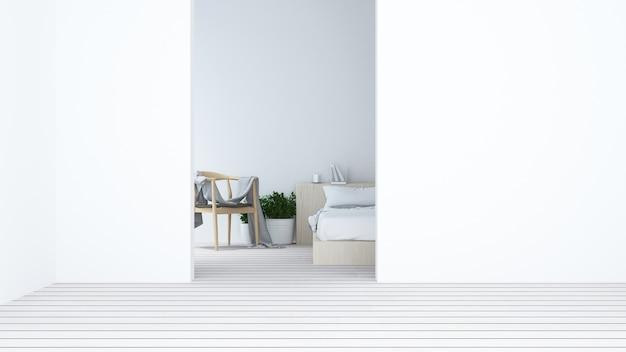 chambre coucher intrieure style minimaliste japonais 3d dcoration de rendu photo premium