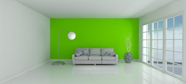 chambre avec un mur vert et un canap t l charger des photos gratuitement. Black Bedroom Furniture Sets. Home Design Ideas