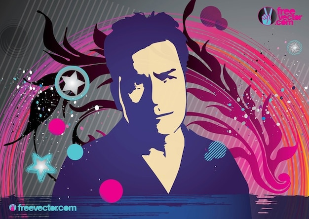 Charlie Sheen art vecteur