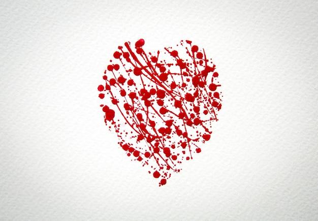 coeur avec splash de l 39 aquarelle rouge t l charger des photos gratuitement. Black Bedroom Furniture Sets. Home Design Ideas