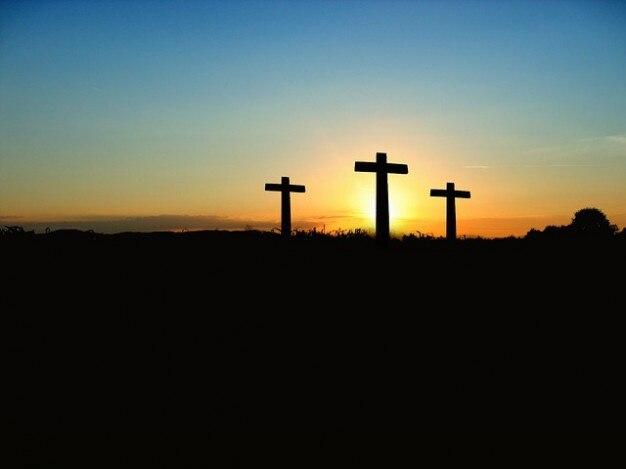 Coucher de soleil croix crucifixion lever du soleil soleil - Du lever du soleil jusqu a son coucher ...