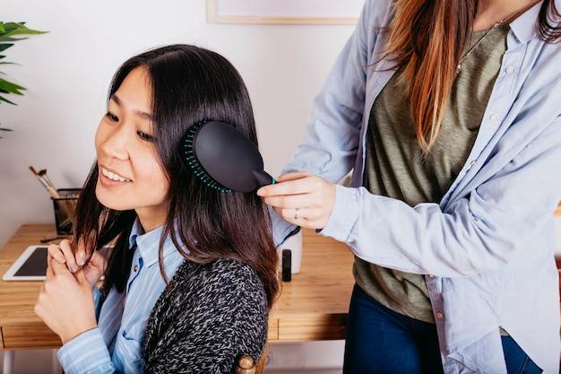 coiffures cheveux asiatiques