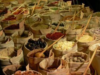 épices, sacs Photo gratuit
