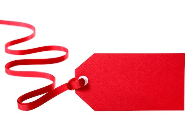 tiquette de cadeau rouge avec un ruban rouge boucl s t l charger des photos gratuitement. Black Bedroom Furniture Sets. Home Design Ideas