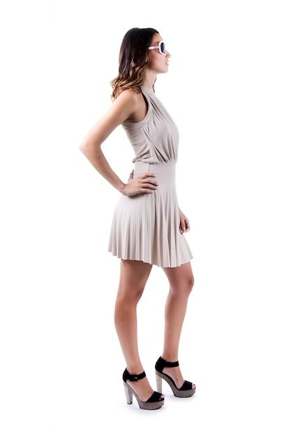 Femme posant avec une robe t l charger des photos for Qu est ce qu une robe de trompette