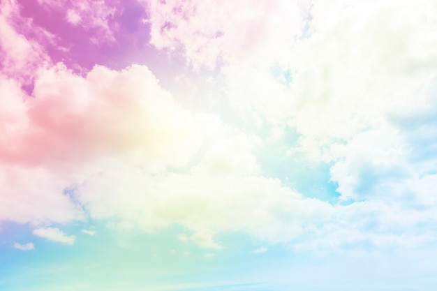 fond de soleil et nuage avec une couleur pastel t l charger des photos premium. Black Bedroom Furniture Sets. Home Design Ideas
