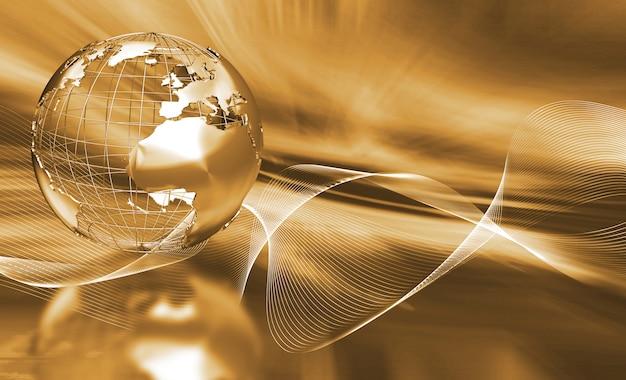 Globe abstrait Photo gratuit