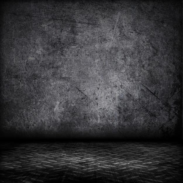 Grunge style intérieur avec plancher de plaque métallique Photo gratuit