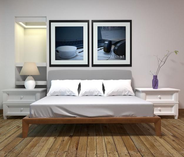 Intérieur de la chambre à coucher - Style classique - Style de ...