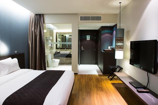 Intérieur Moderne Et Confortable Chambre D'Hôtel | Télécharger Des