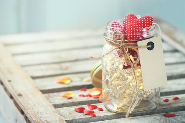 Jar avec des lumi res et des coeurs t l charger des - Coeur avec des photos ...