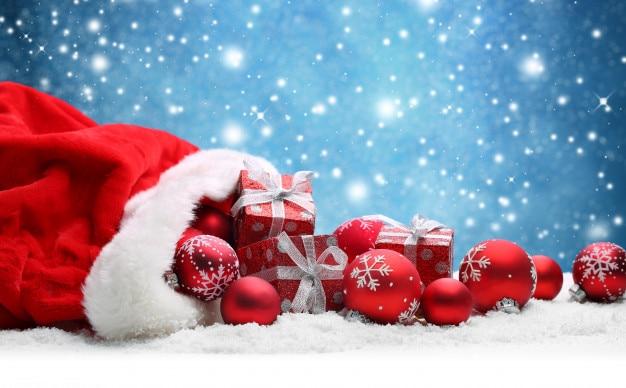 Joyeux noël et bonne année. Contexte. Photo gratuit