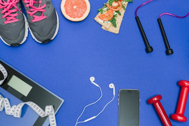 Kit de sport pour un entraînement correct Photo gratuit
