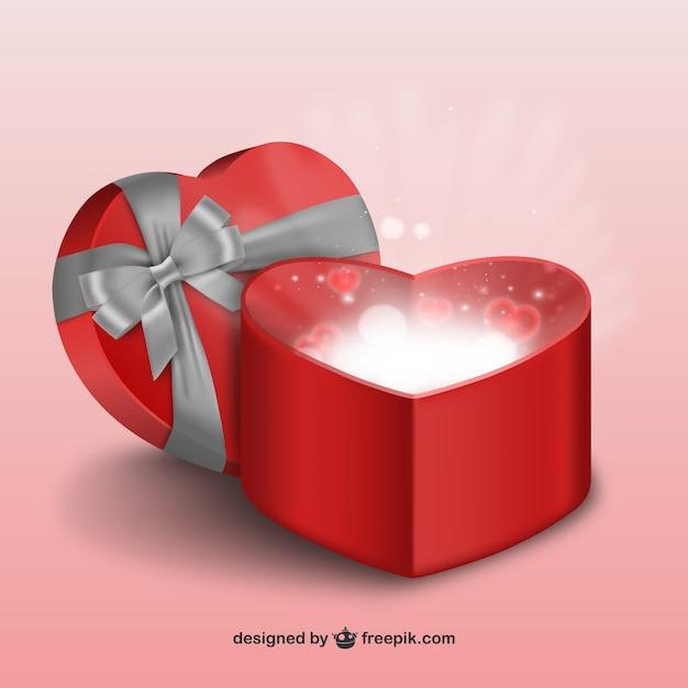 le cadeau de saint valentin 3d t l charger des vecteurs gratuitement. Black Bedroom Furniture Sets. Home Design Ideas