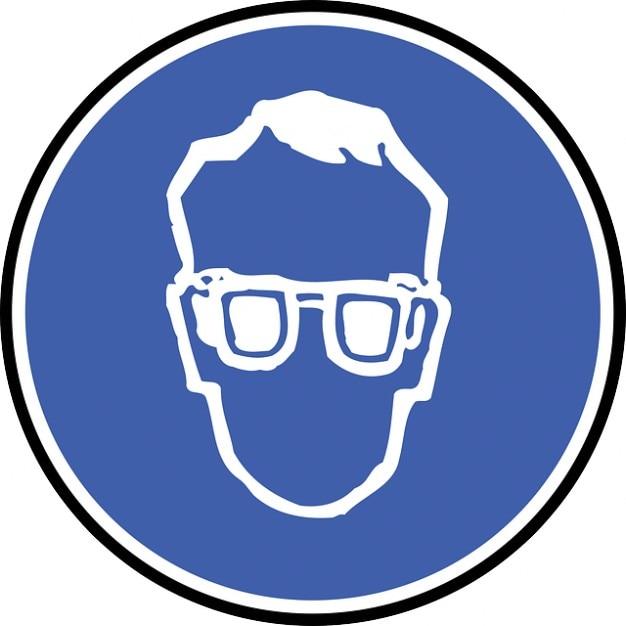 Oeil ic ne symbole de protection signe lunettes visage - Symbole de protection ...