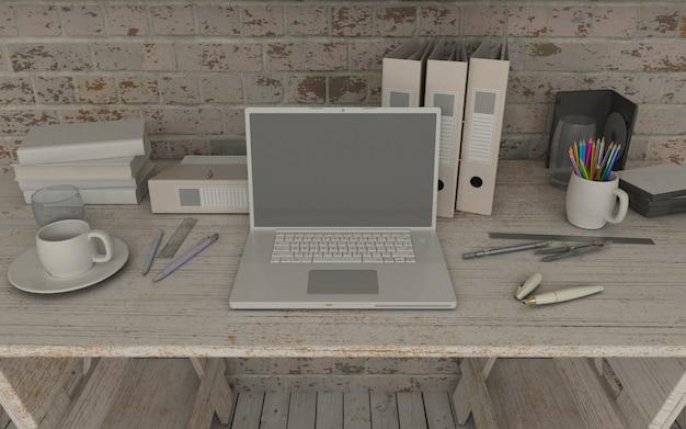 ordinateur portable dans l 39 espace de travail maquette t l charger des photos gratuitement. Black Bedroom Furniture Sets. Home Design Ideas