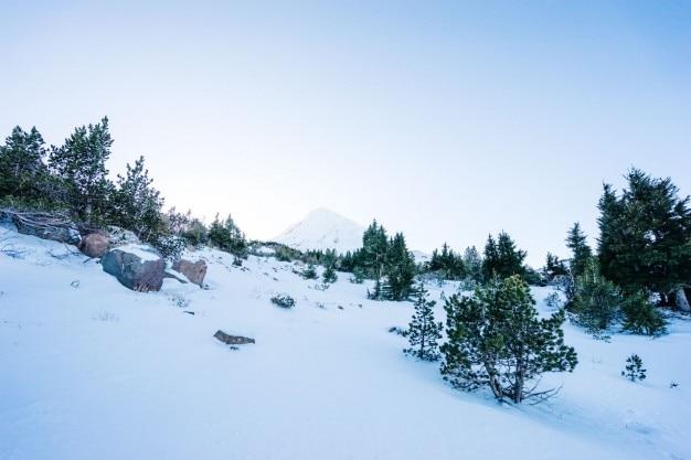paysage de neige de montagne t l charger des photos gratuitement. Black Bedroom Furniture Sets. Home Design Ideas