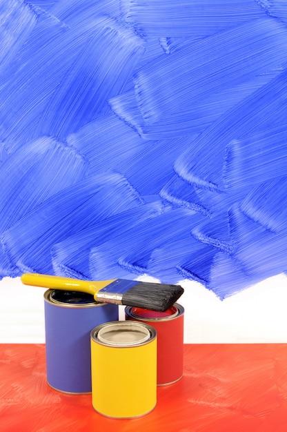 Peindre un mur bleu t l charger des photos gratuitement - Peindre un mur en rouge ...