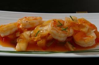 recette de crevettes d'Asie Photo gratuit