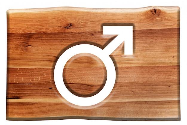 signe en bois avec le symbole du m le t l charger des photos gratuitement. Black Bedroom Furniture Sets. Home Design Ideas